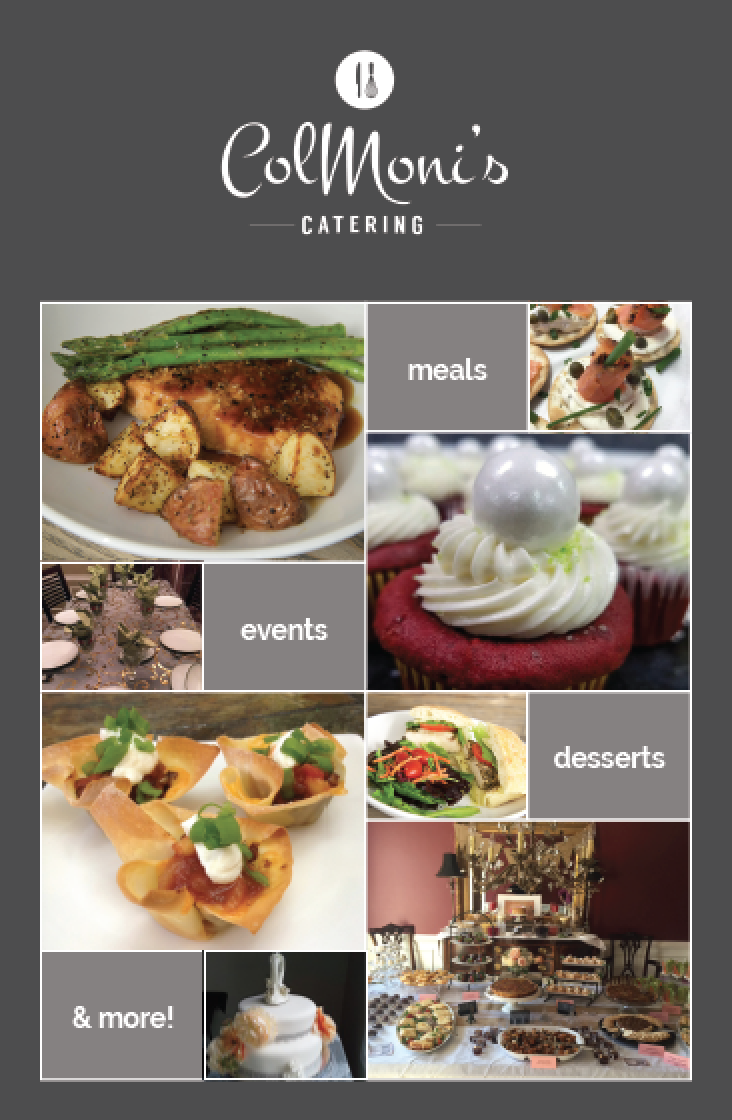 Flyer for ColMoni's Catering