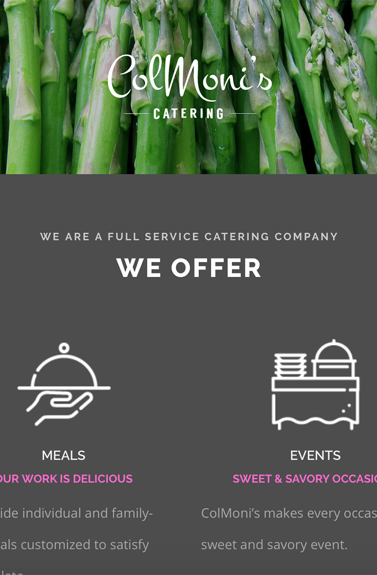 The ColMoni's Catering Website