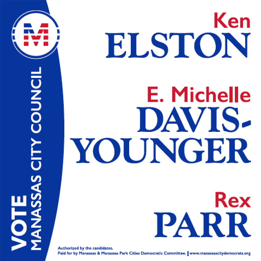 Yard sign used by the candidates
